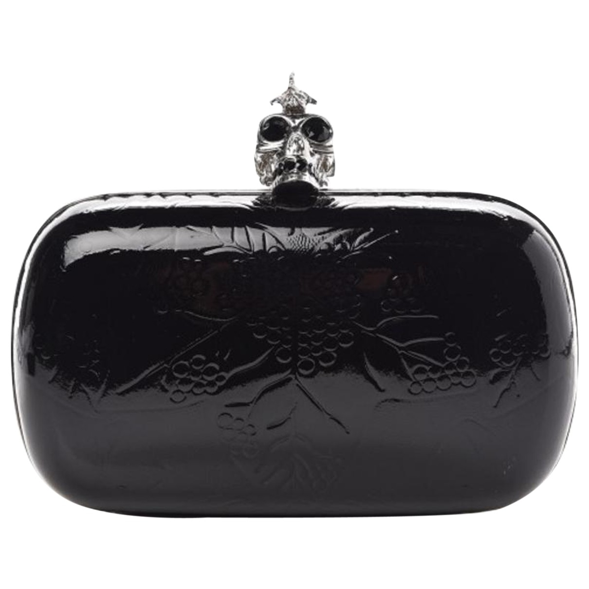 Alexander Mcqueen - Pochette Skull pour femme en cuir - noir