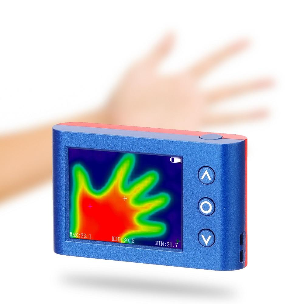 Portable Handheld Infrared Thermal Imager Thermal Imaging Camera 2.4 Inch 24*32 Resolution Digital LCD Display Thermomet