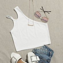 Tops de mujeres Cut-out Liso Casual