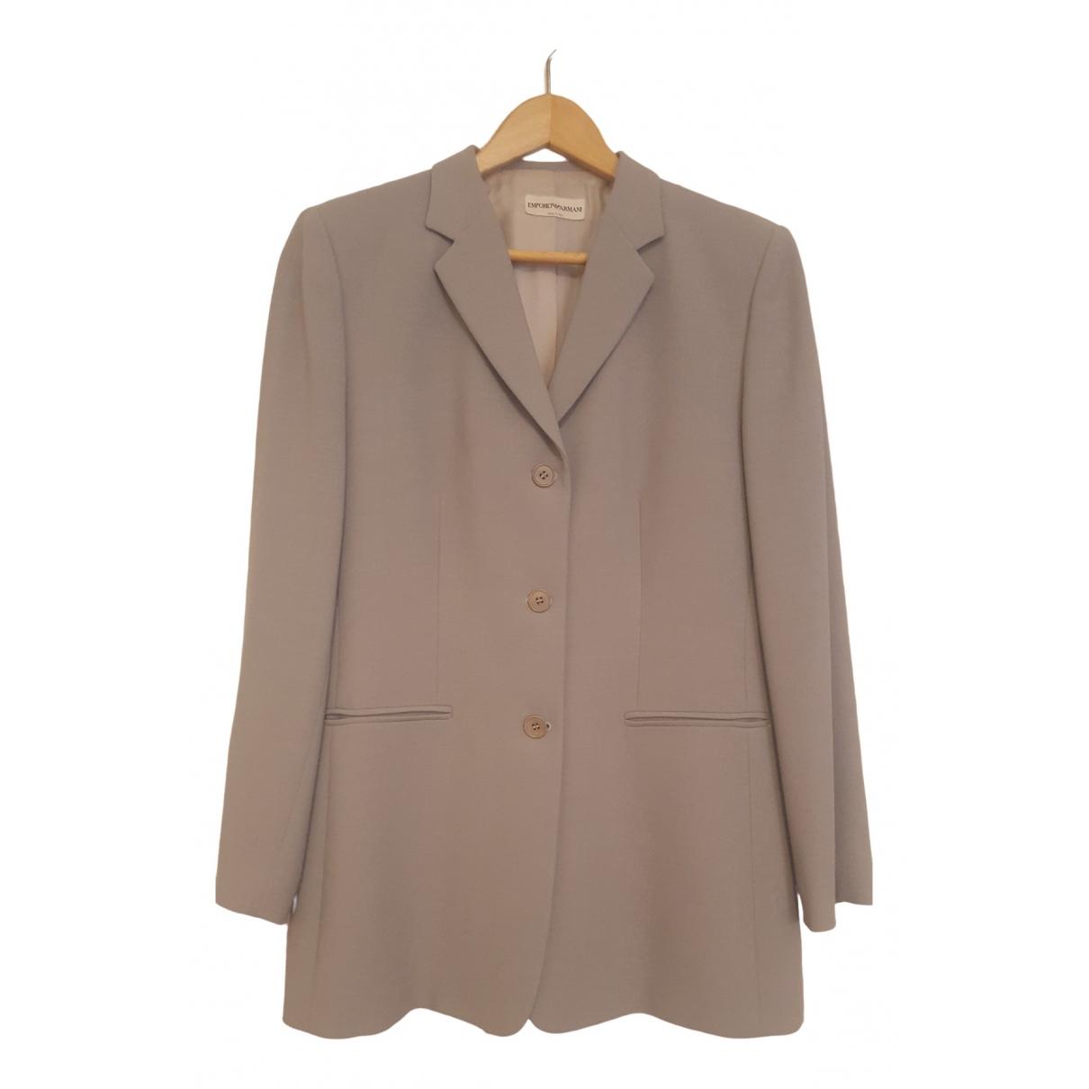 Emporio Armani - Veste   pour femme en laine - gris