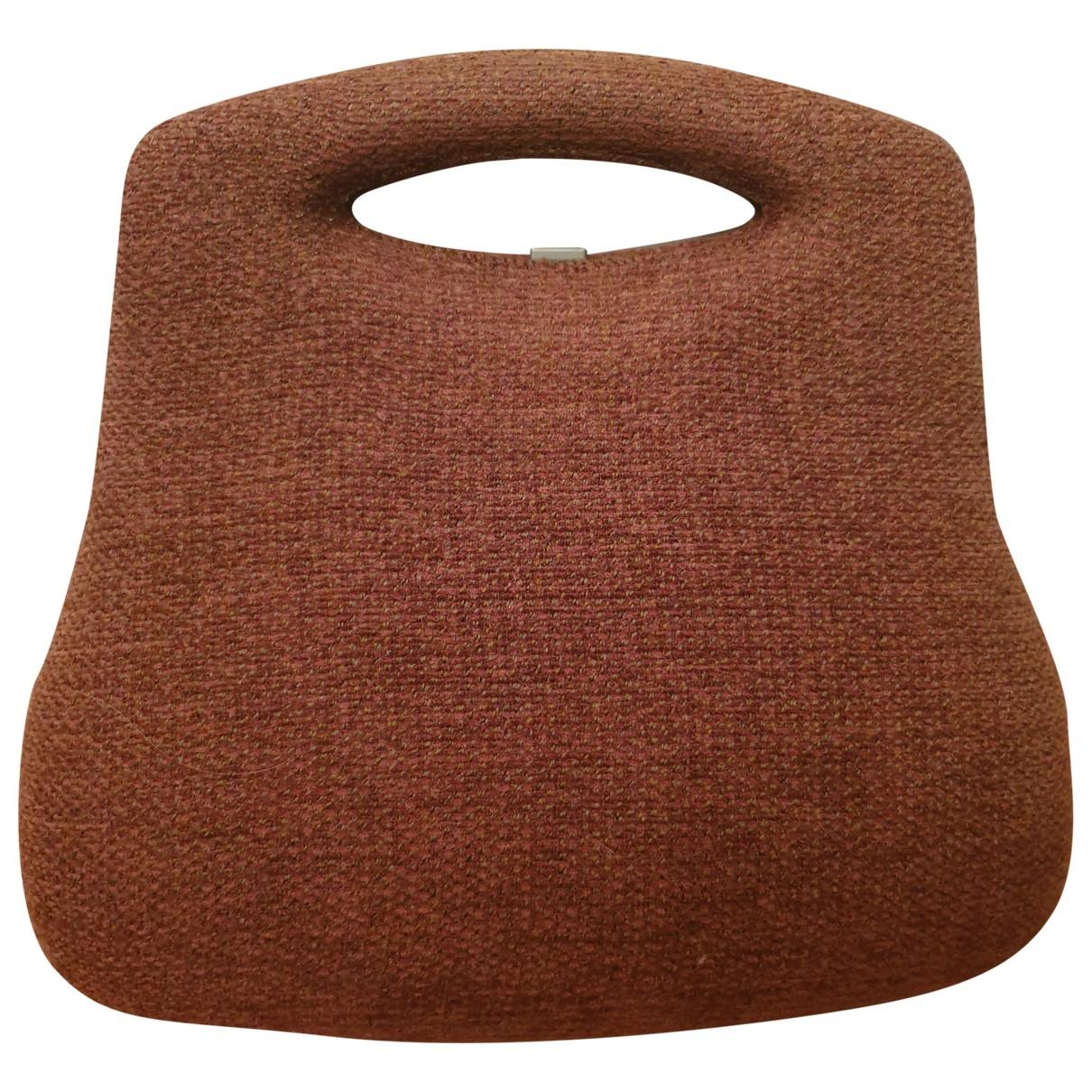 Chanel Millenium Clutch in  Braun Wolle