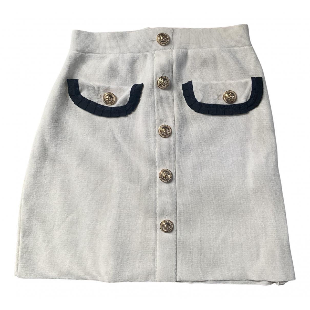 Maje \N White Wool skirt for Women 1 US