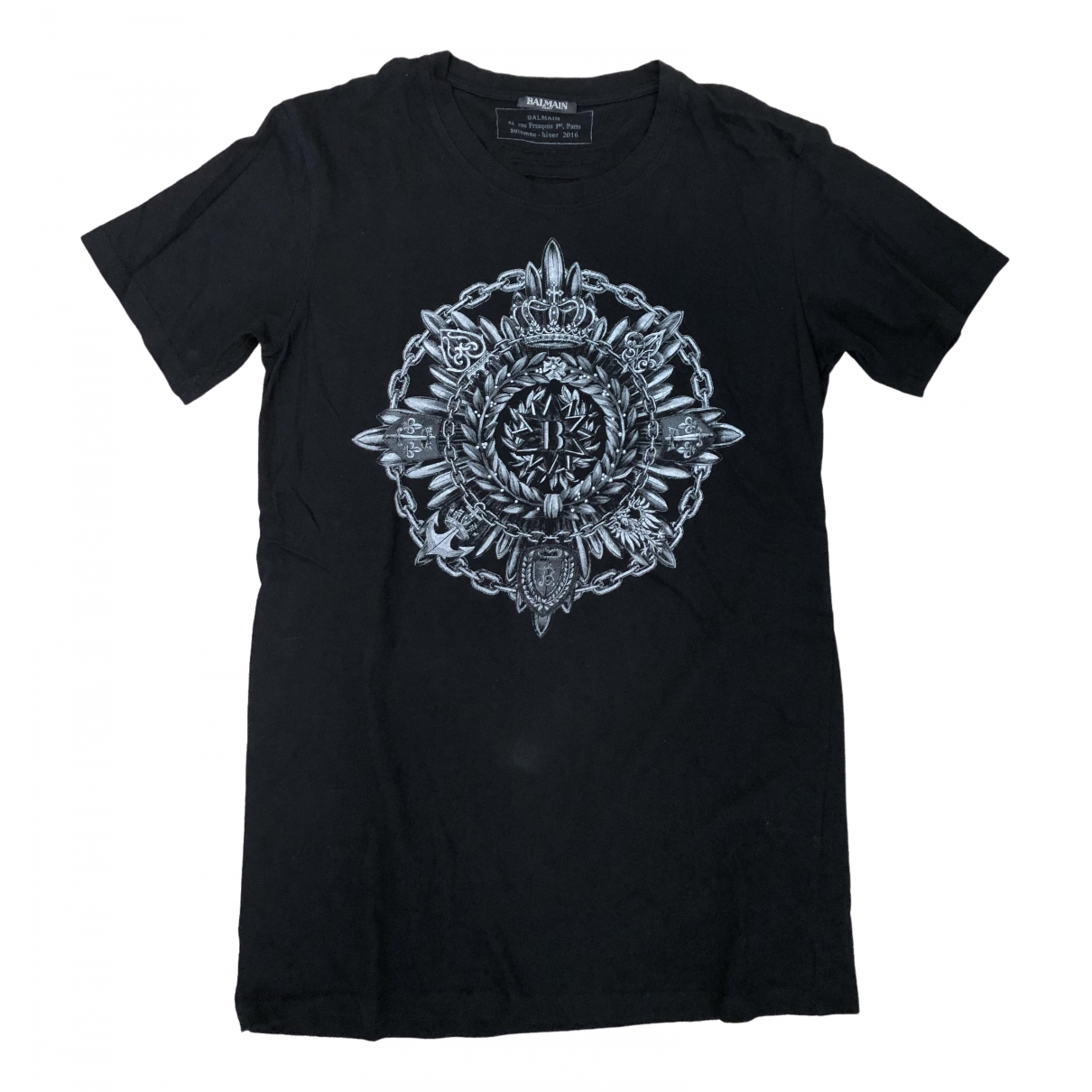Balmain \N Black Cotton T-shirts for Men M International