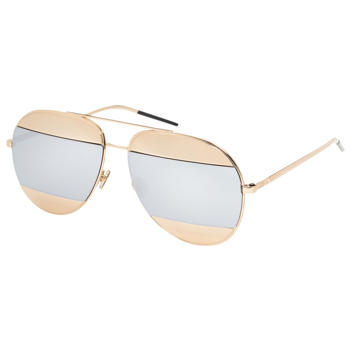 Dior Split Gold Metal Sunglasses for Women \N