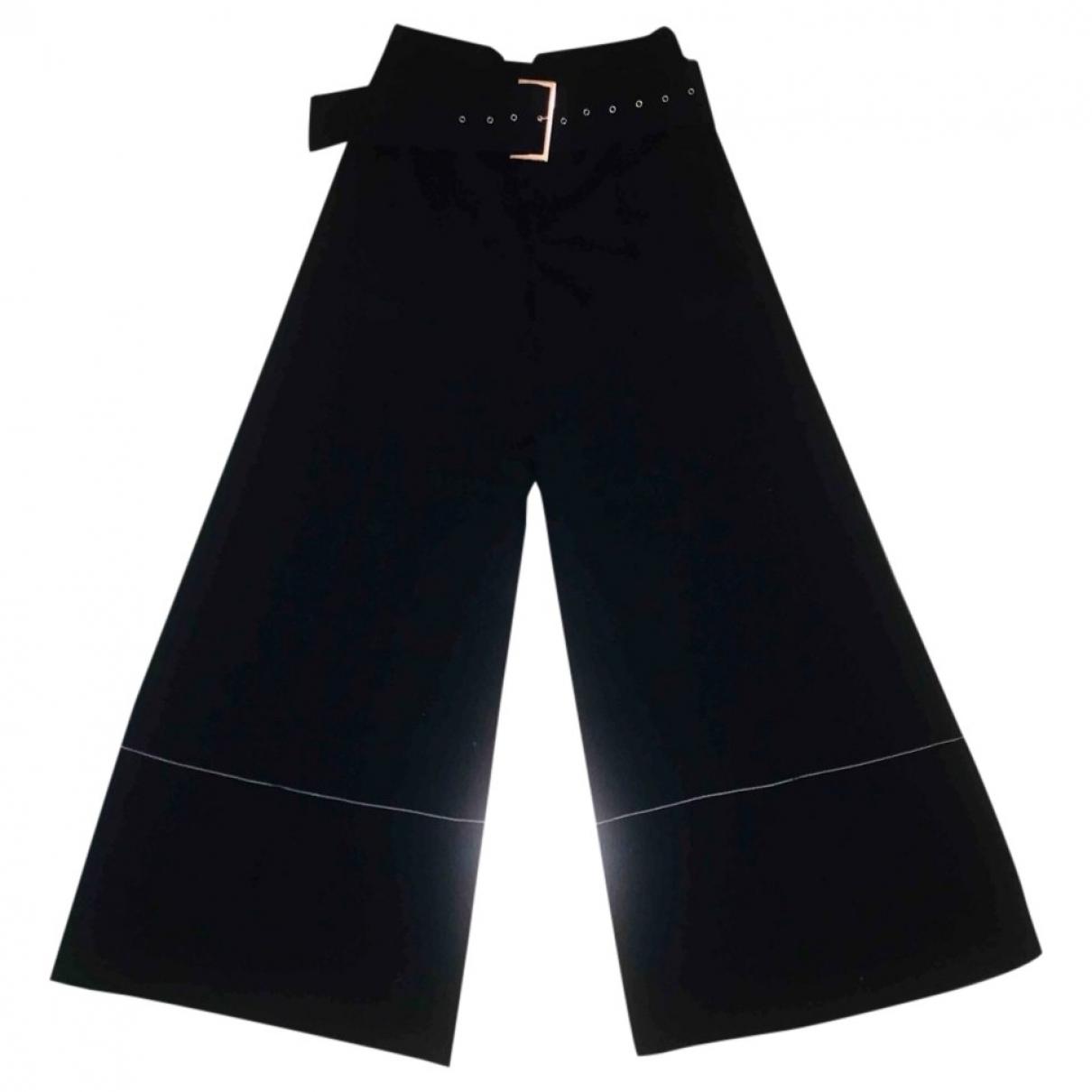 Celine \N Blue Wool Trousers for Women 40 IT