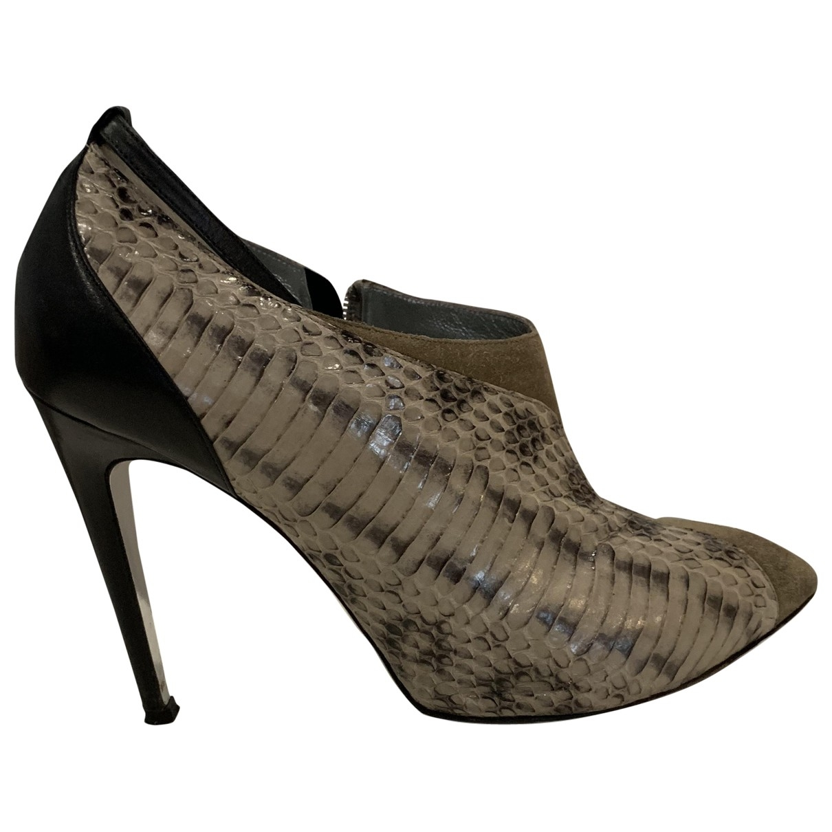 Azzaro \N Beige Python Ankle boots for Women 40 EU