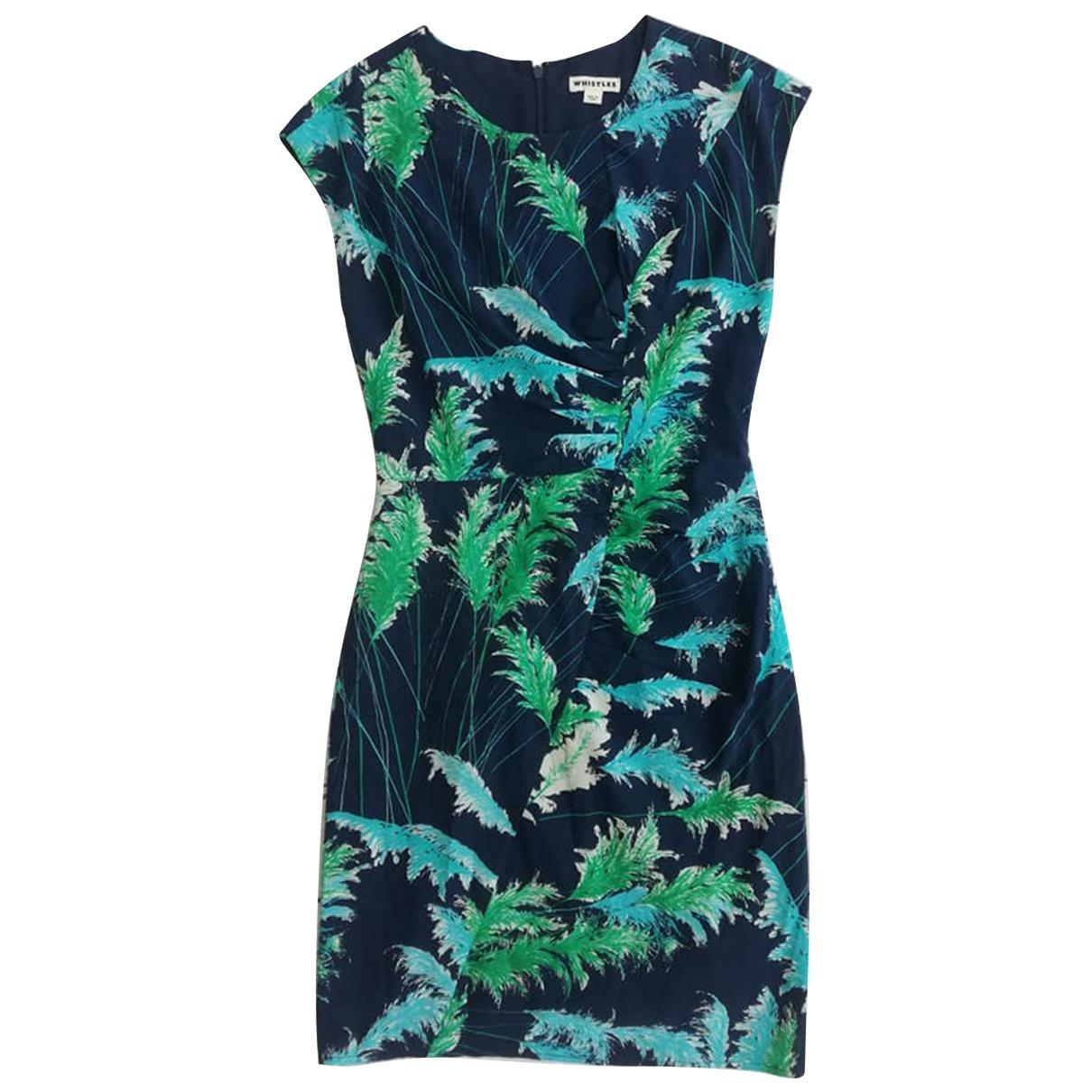 Whistles - Robe   pour femme en soie - marine