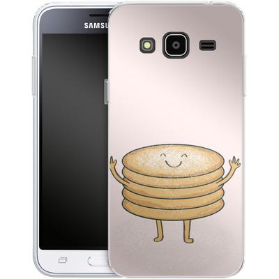 Samsung Galaxy J3 (2016) Silikon Handyhuelle - Pancake-man with Sugar von caseable Designs