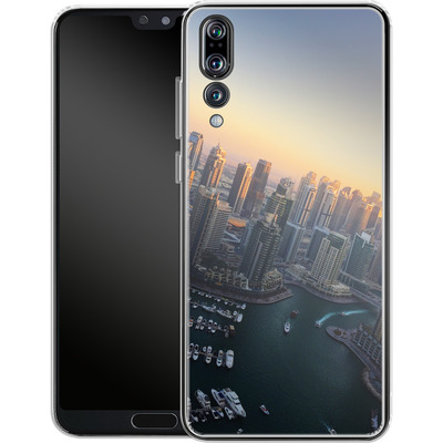 Huawei P20 Pro Silikon Handyhuelle - Dubai Skyline von Omid Scheybani