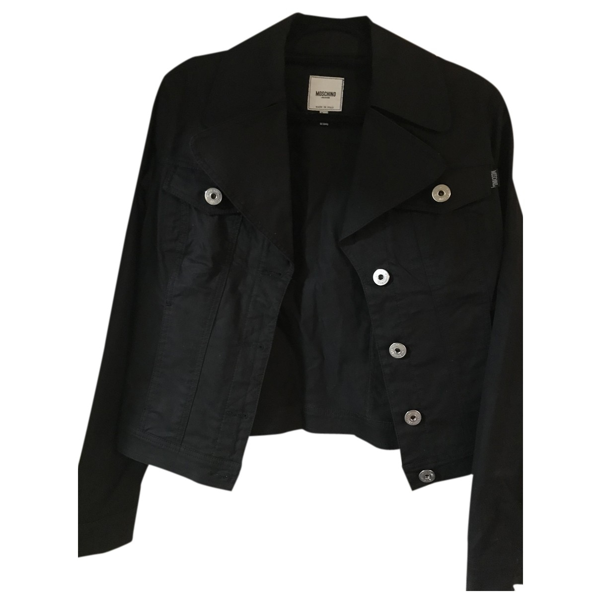 Moschino N Black Cotton jacket for Women 46 IT