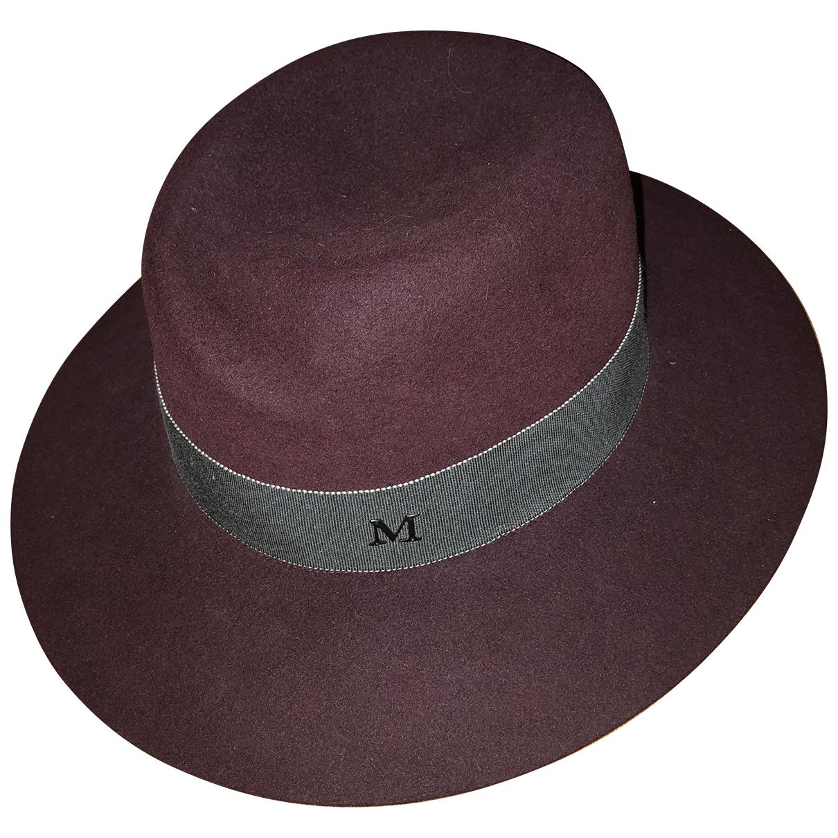 Maison Michel \N Burgundy Wool hat for Women M International