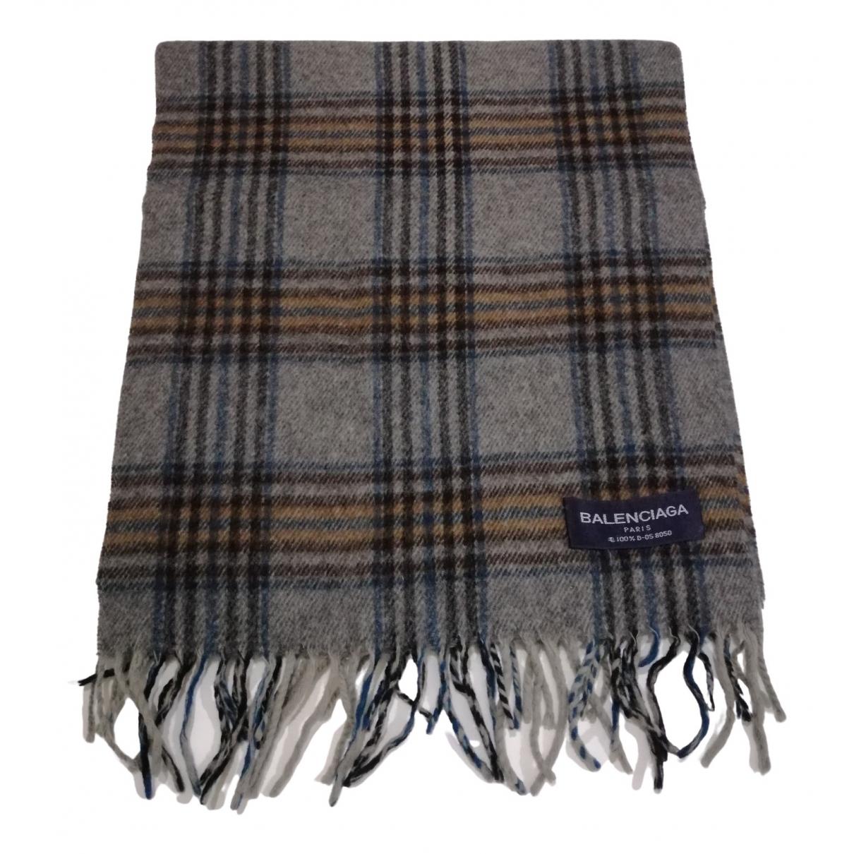Balenciaga - Foulard   pour femme en laine - gris