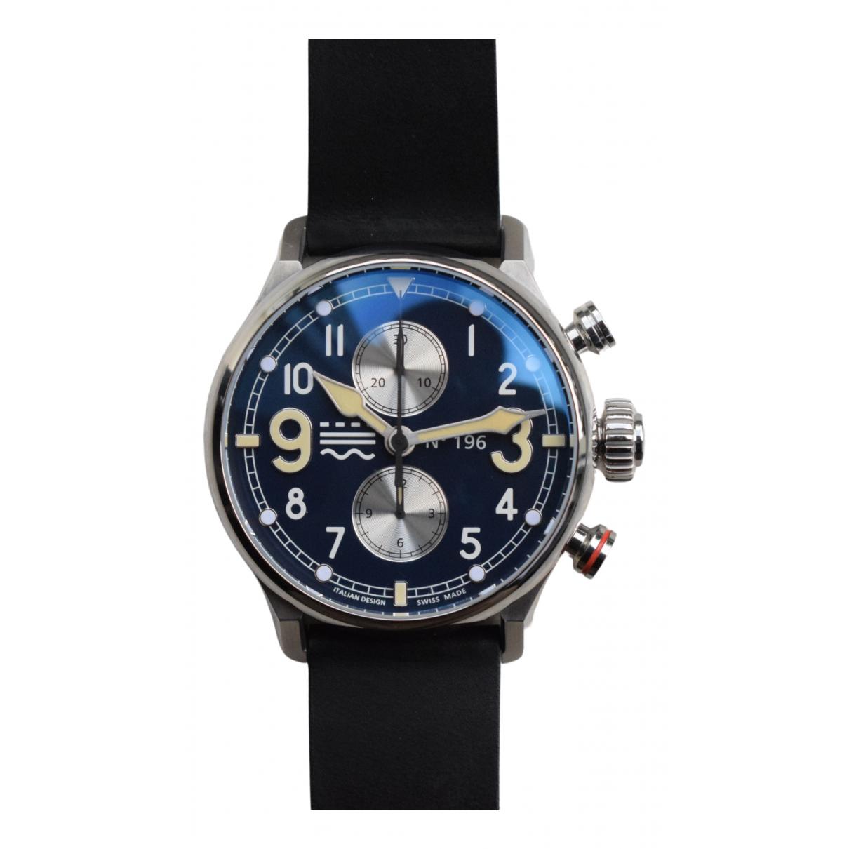 Non Signe / Unsigned \N Uhr in  Blau Stahl