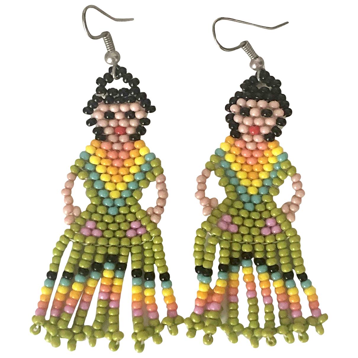 - Boucles doreilles Motifs Ethniques pour femme en autre - multicolore