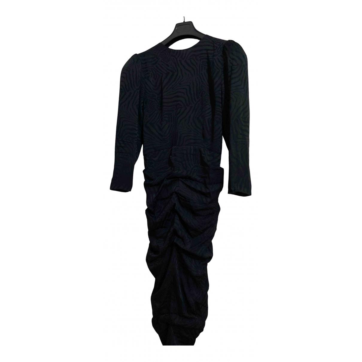 Attico \N Kleid in  Schwarz Seide