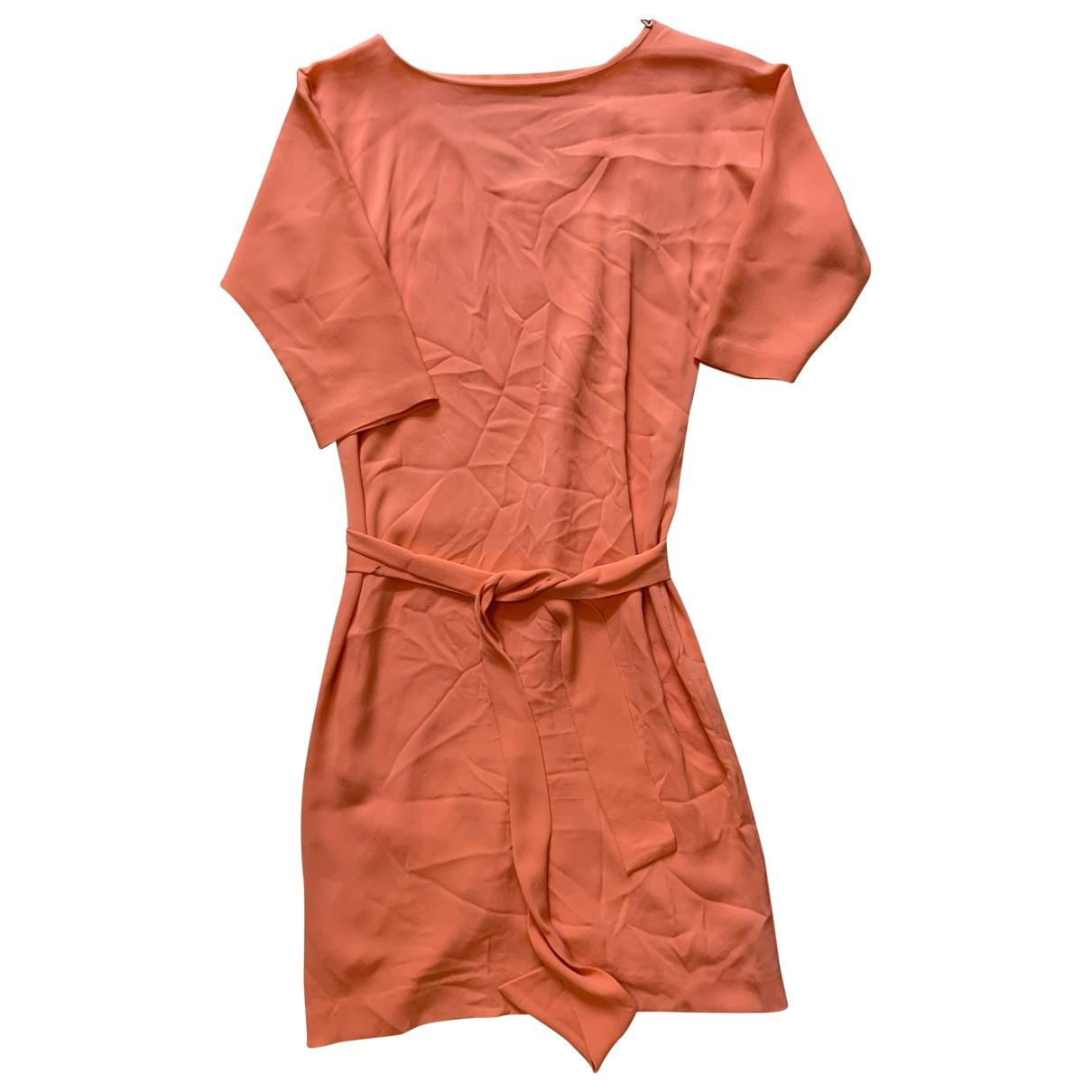 Diane Von Furstenberg \N Orange Silk dress for Women 4 US