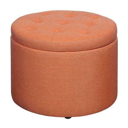 Designs4comfort Round Shoe Ottoman, One Size , Pink