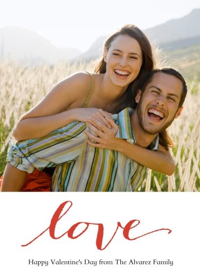 Valentine's Cards 5x7 Folded Cards, Standard Cardstock 85lb, Card & Stationery -True Love
