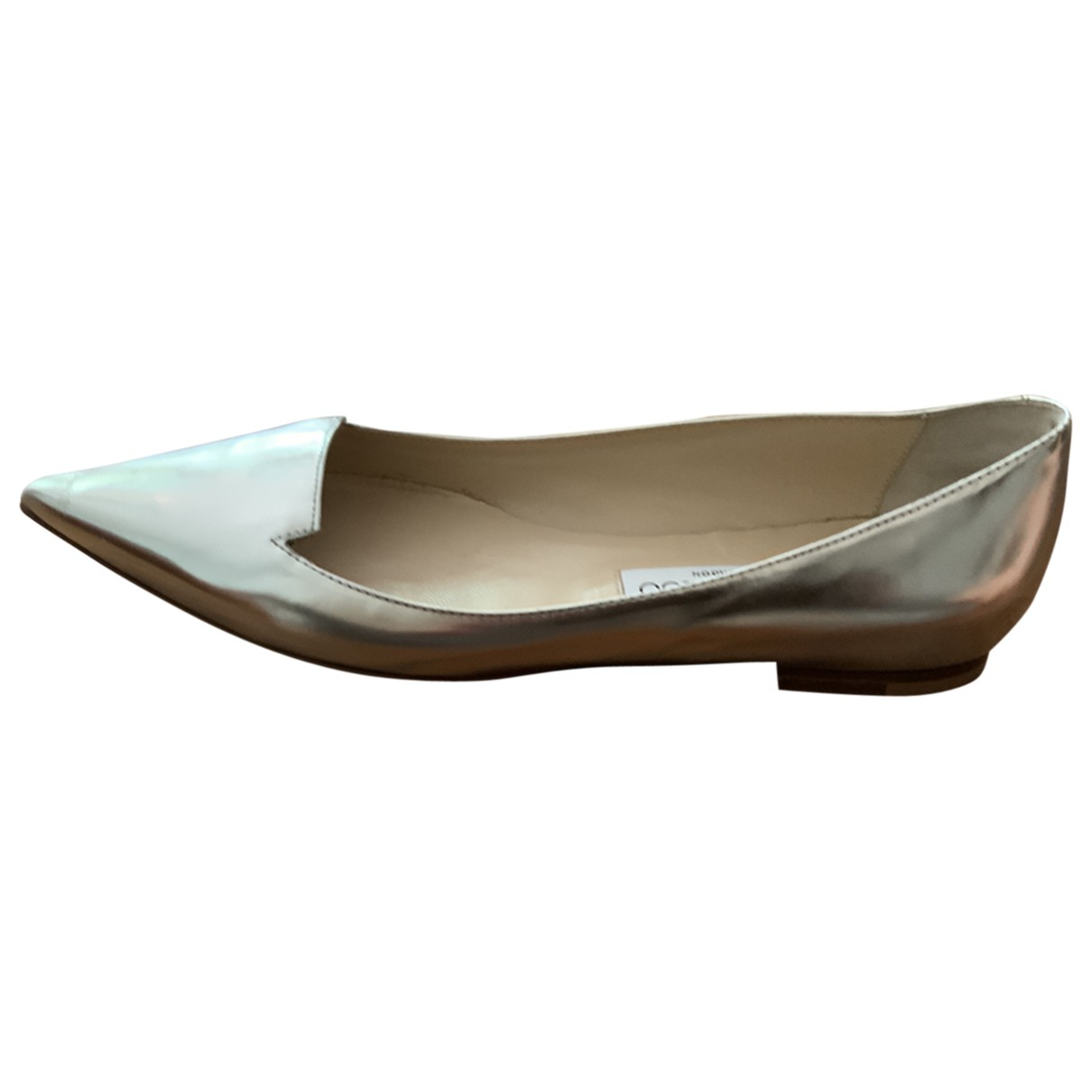 Jimmy Choo \N Silver Patent leather Ballet flats for Women 37 EU