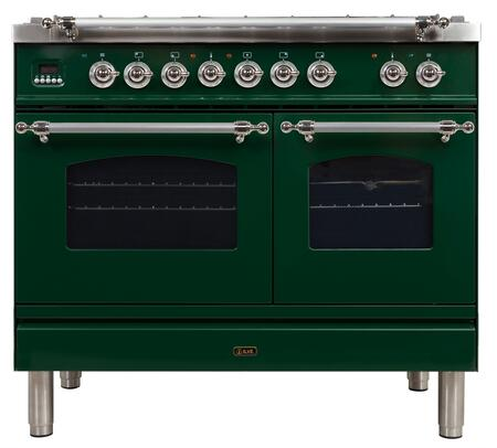 UPDN100FDMPVSX 40 Nostalgie Series Dual Fuel Natural Gas Range with 5 Sealed Brass Burners  3.55 cu. ft. Total Capacity True Convection Oven
