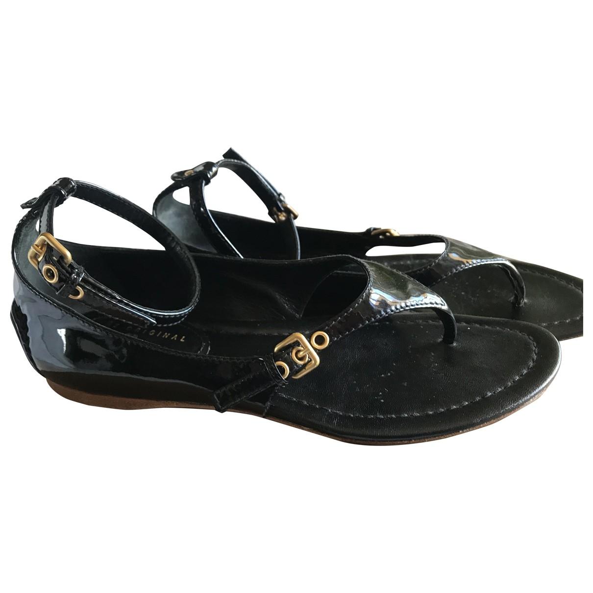 Carshoe - Sandales   pour femme en cuir - noir
