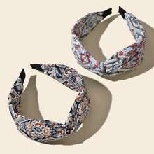 2pcs Paisley Pattern Hair Hoop