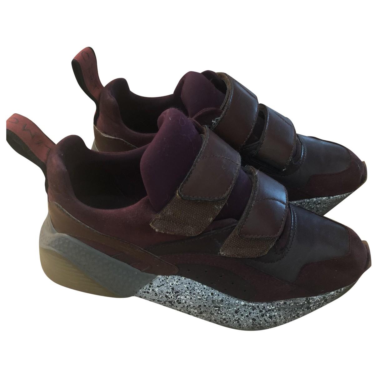 Stella Mccartney Eclypse Sneakers in  Bordeauxrot Leder