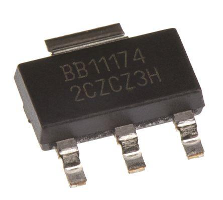 Texas Instruments REG1117-3.3, LDO Regulator, 800mA, 3.3 V, ±1% 3+Tab-Pin, SOT-223 (5)
