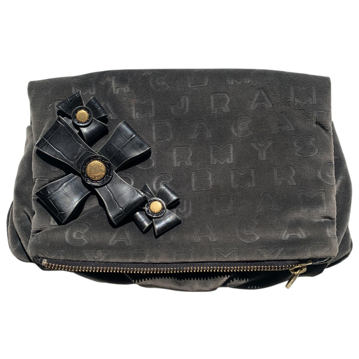 Marc By Marc Jacobs \N Clutch in  Anthrazit Samt