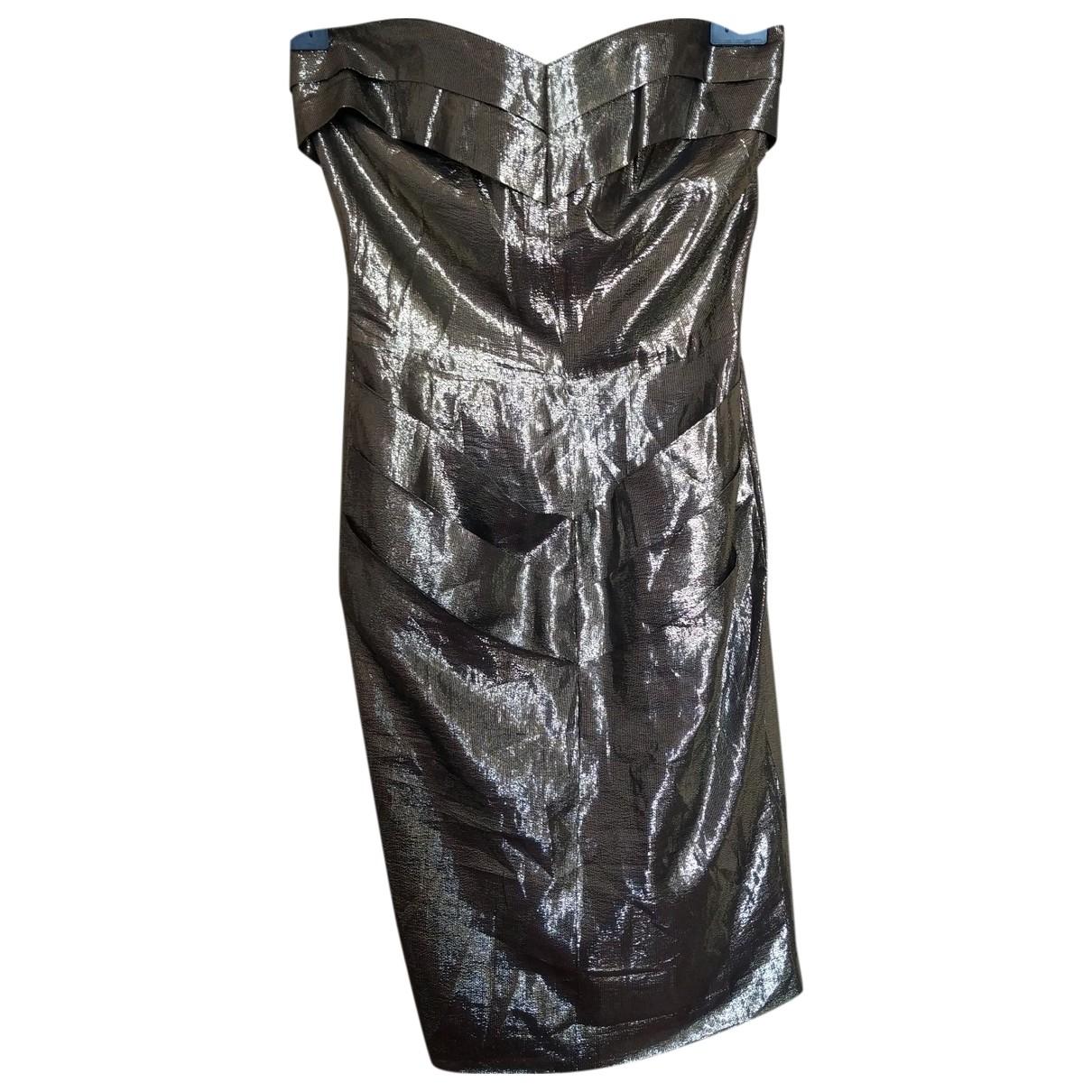 Fendi - Robe   pour femme en soie - dore