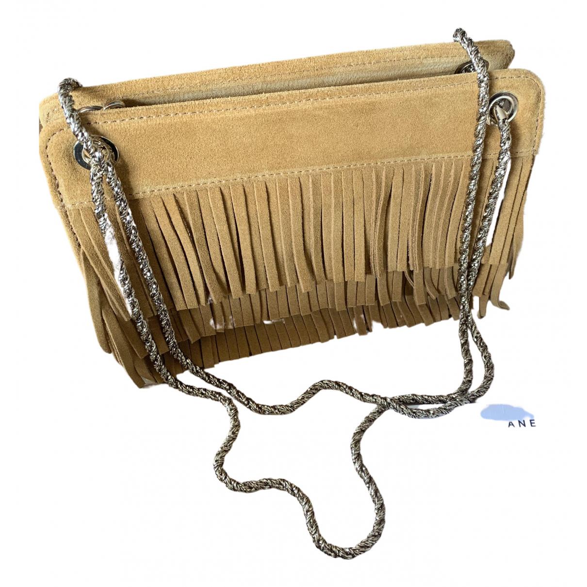 Sezane \N Handtasche in  Gelb Leder