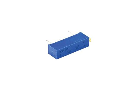 Vishay 43P Series 20-Turn Through Hole Trimmer Resistor with Pin Terminations, 50k? �10% 1/2W �100ppm/�C Side Adjust