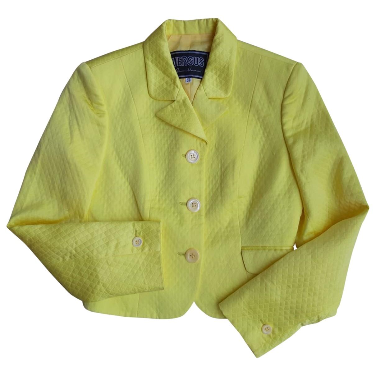 Versus \N Jacke in  Gelb Baumwolle