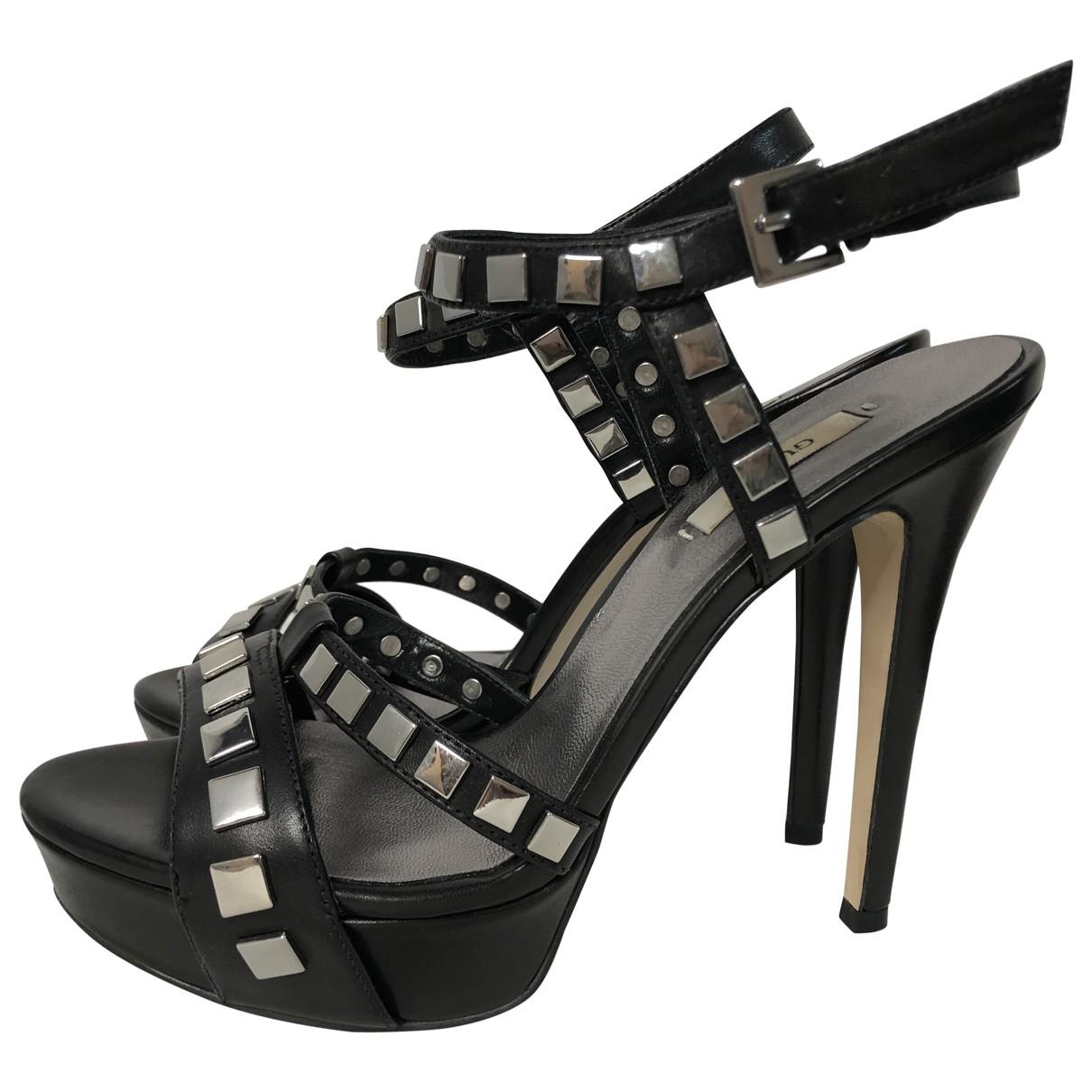 Guess - Escarpins   pour femme en cuir - noir