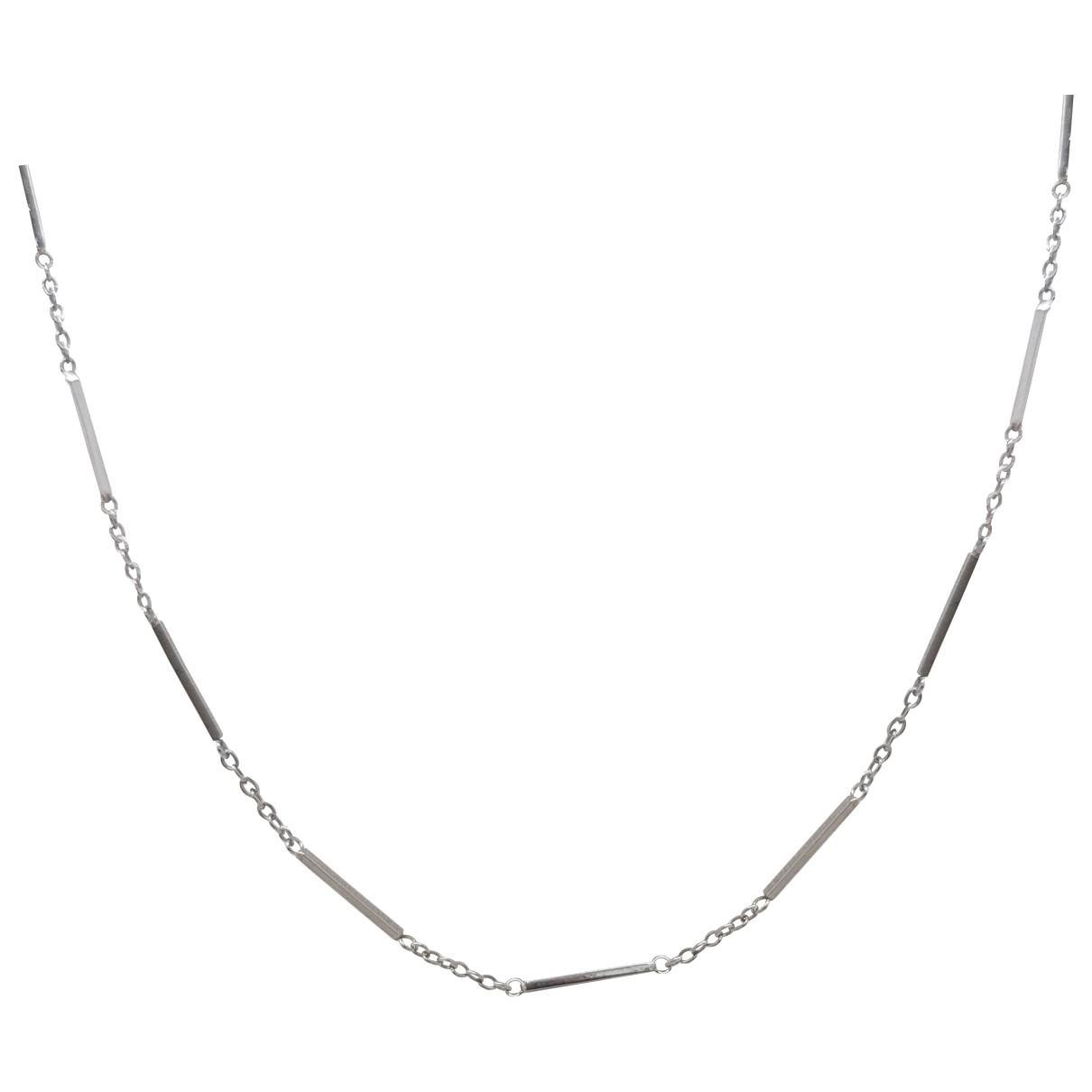 Collar Chaines de Oro blanco Non Signe / Unsigned