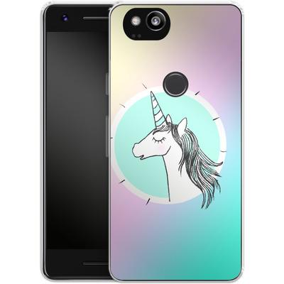Google Pixel 2 Silikon Handyhuelle - Happiness Unicorn von caseable Designs