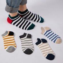 5 Paare Maenner Socken mit Streifen