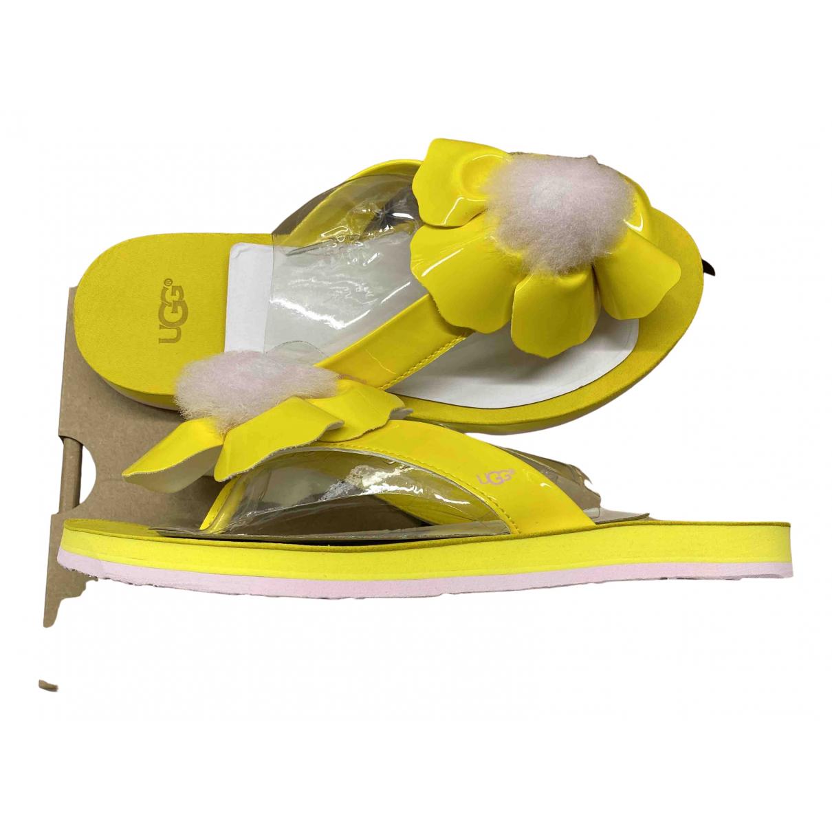 Ugg \N Yellow Rubber Sandals for Women 38 EU