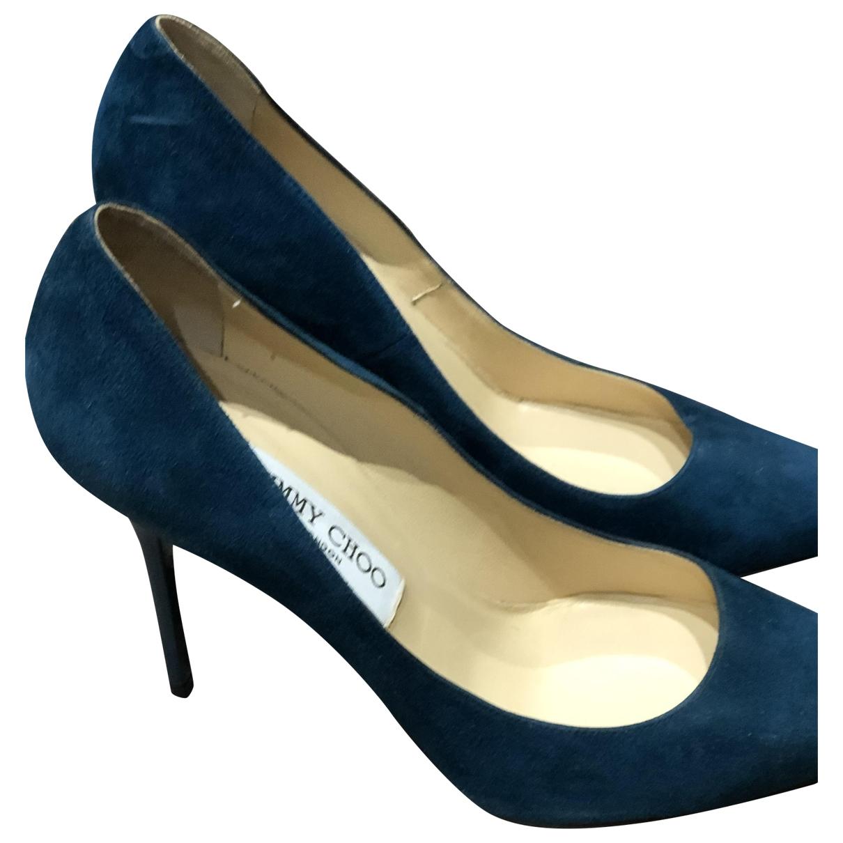Jimmy Choo - Escarpins Anouk pour femme en suede - bleu