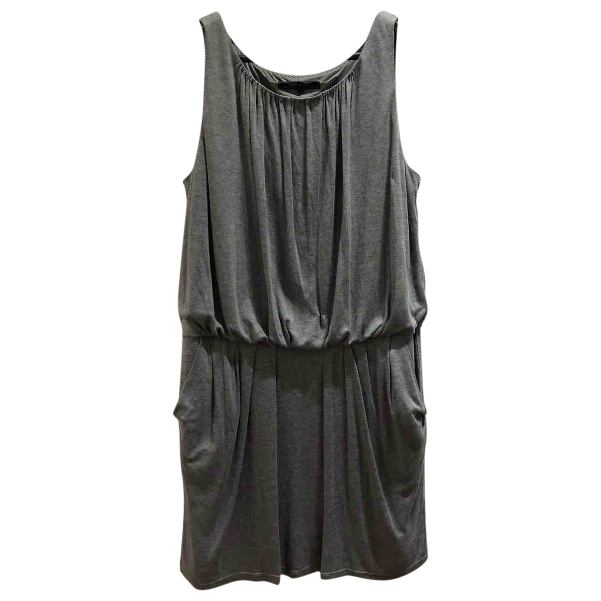 Bcbg Max Azria \N Kleid in  Grau Baumwolle