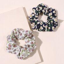 2pcs Ditsy Flower Scrunchie