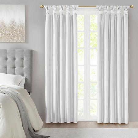 Madison Park Natalie 100% Blackout Tab-Top Single Curtain Panel, One Size , White