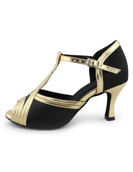 Milanoo Zapatos de bailes latinos de seda y saten