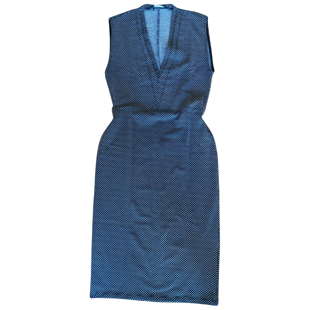Zara - Robe   pour femme en coton - elasthane - gris