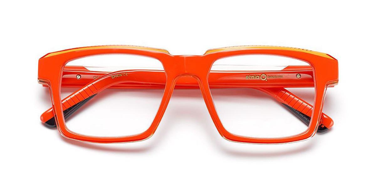 Etnia Barcelona Oscar OGBK Men's Glasses Orange Size 53 - Free Lenses - HSA/FSA Insurance - Blue Light Block Available
