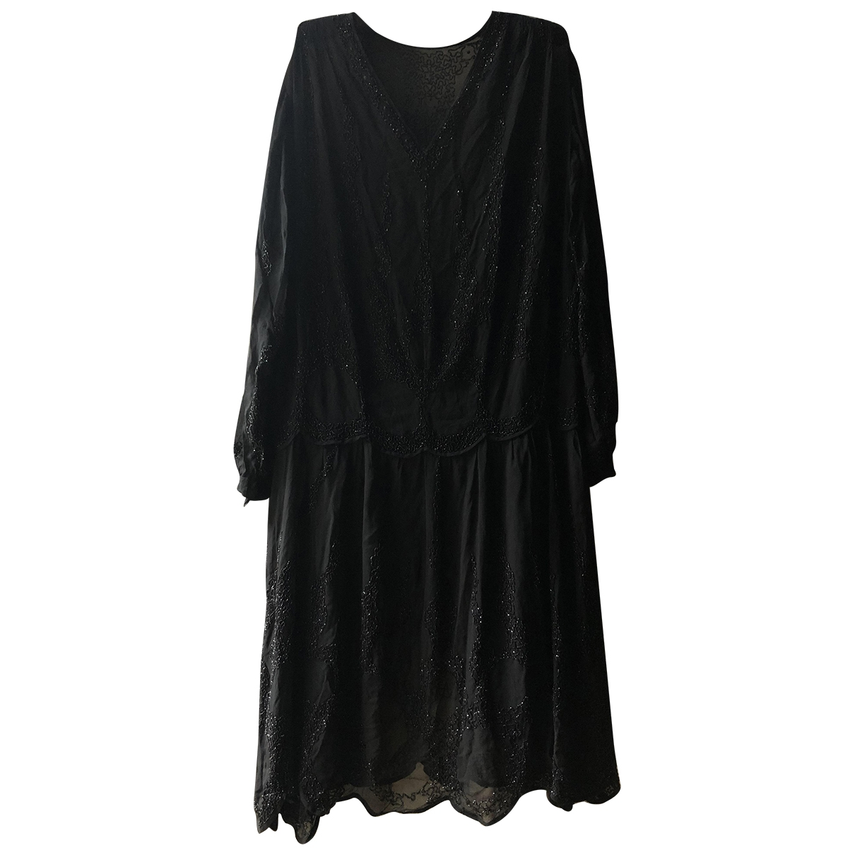 Non Signé / Unsigned \N Black Silk dress for Women 42 IT
