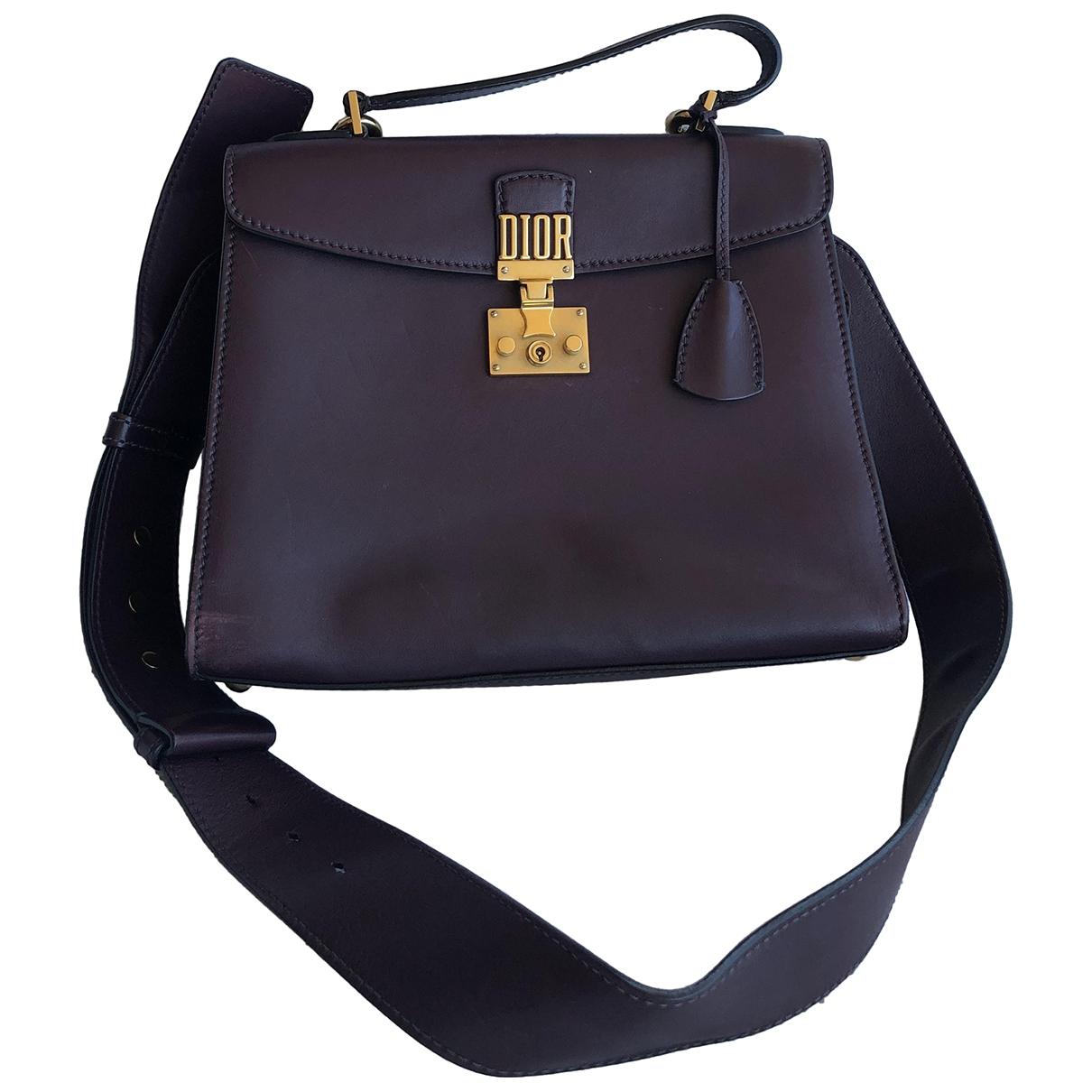 Dior DiorAddict Brown Leather handbag for Women \N