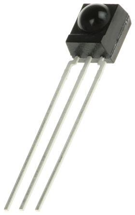 Vishay TSOP4138, 38kHz IR Receiver, 950nm, 45m Range, Through Hole, 6 x 5.6 x 6.95mm (5)