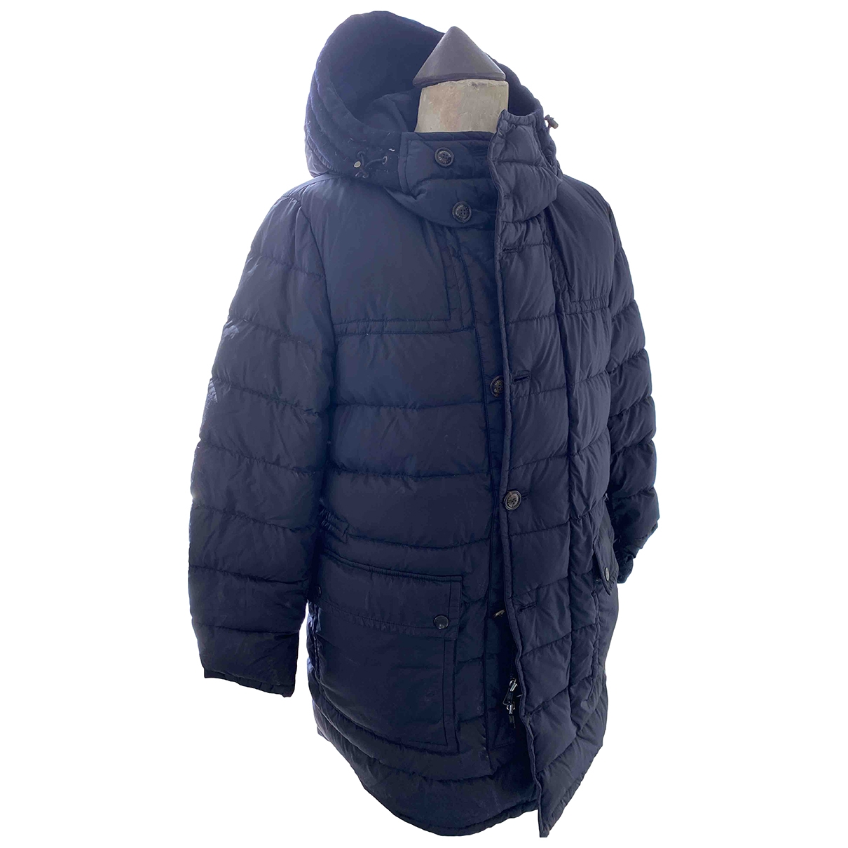Moncler Hood Blue coat  for Men 2 0 - 6