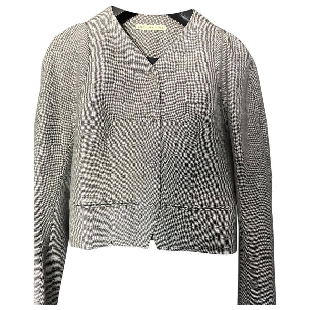 Balenciaga \N Jacke in  Grau Wolle
